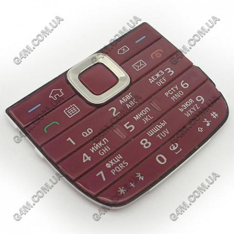 Клавиатура Nokia E75 верхняя, красная, русская (Оригинал)