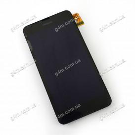 Дисплей Nokia Lumia 630, 630 Dual SIM (RM-976) с тачскрином и рамкой, черный (Оригинал)