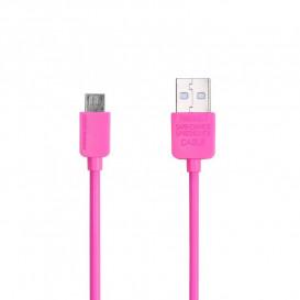 USB дата-кабель Remax  Light Speed RC-006m microUSB розовый