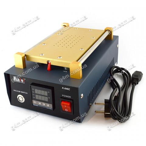 LCD separator-подогреватель дисплеев 7 дюймов с встроенным компрессором Kaisi K-846, K-846C