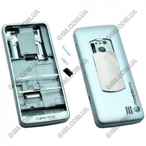 Корпус Sony Ericsson C901 серебристый, High Copy