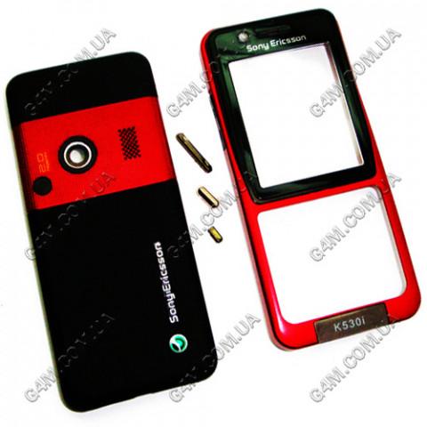Корпус Sony Ericsson K530i красный, High Copy