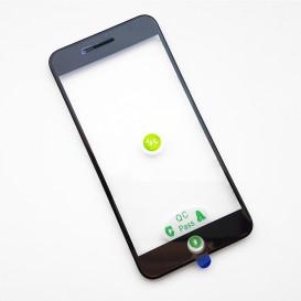 Стекло сенсорного экрана с рамкой и OCA пленкой для Apple iPhone 8 Plus черное
