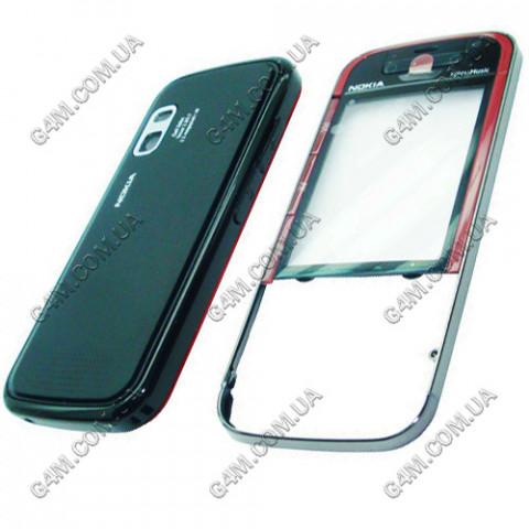 Корпус Nokia 5730 Xpress Music черный с красным (High Copy)