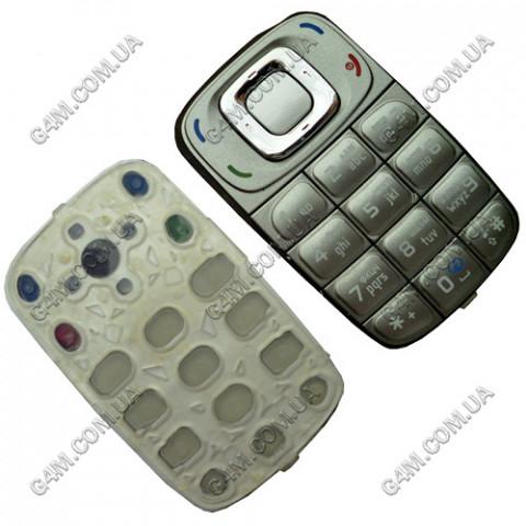 Клавиатура Nokia 6085 серая, русская, High Copy
