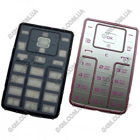 Клавиатура Samsung S3600 розовая, русская, High Copy