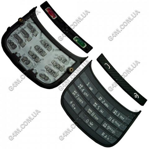 Клавиатура Nokia C2-03 серая, кириллица, High Copy