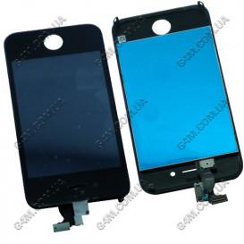 Дисплей Apple iPhone 4G (CDMA) с тачскрином и рамкой черный