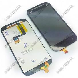 Дисплей HTC T528t One ST с тачскрином черный (Оригинал)