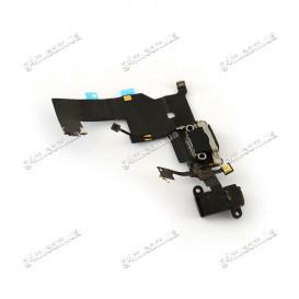 Шлейф Apple iPhone 5 с коннектором зарядки черная (Оригинал China)
