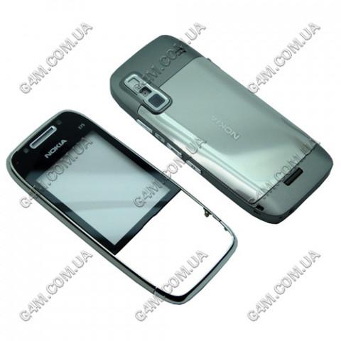 Корпус Nokia E75 серый с серебристым (High Copy)