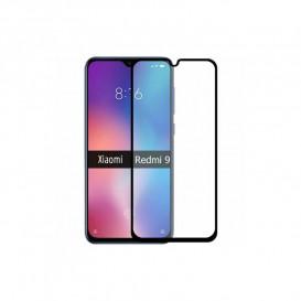 Защитное стекло Full Glue для Xiaomi Redmi 9, Redmi 9a (3D стекло черного цвета)