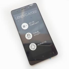 Дисплей Lenovo A7000 с тачскрином и рамкой, черный (Оригинал)