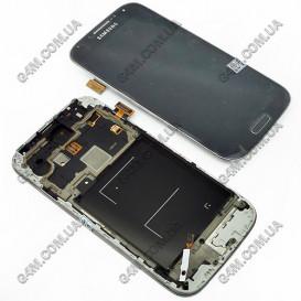 Дисплей Samsung i9505 Galaxy S4, i9515 Galaxy S4 темно-синий с тачскрином и рамкой (Оригинал)
