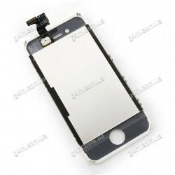 Дисплей Apple iPhone 4S с тачскрином и рамкой, белый, Оригинал