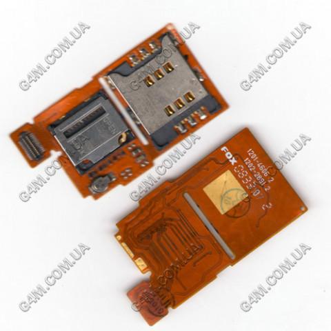 Модуль Сим карты и карты памяти Sony Ericsson W350i