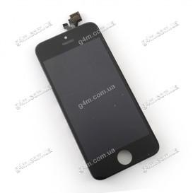 Дисплей Apple iPhone 5 с тачскрином и рамкой, черный (High copy)