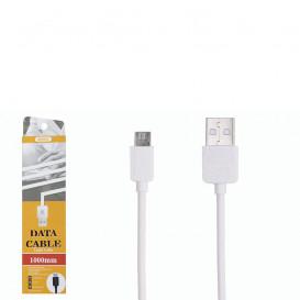 USB дата-кабель Remax  Light Speed RC-006m microUSB белый