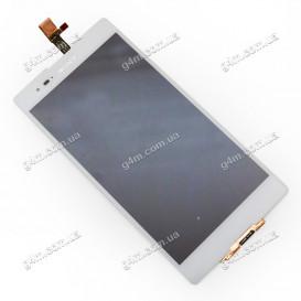Дисплей Sony D5322 Xperia T2 Ultra DS с тачскрином, белый (Оригинал)