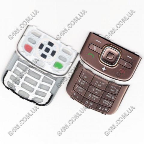 Клавиатура Nokia 6710 Navigator коричневая, русская (High Copy)