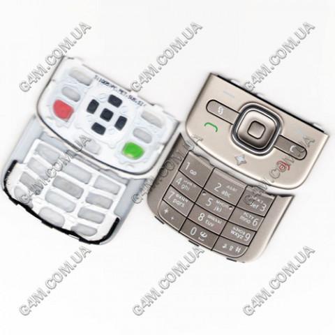 Клавиатура Nokia 6710 slide серебристая, русская, High Copy