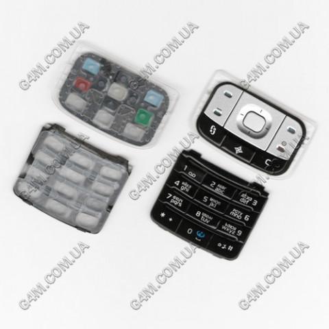 Клавиатура Nokia 6110 Navigator черная, русская, High Copy