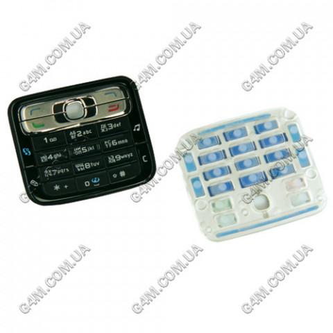 Клавиатура Nokia N73 черная, русская (High Copy)