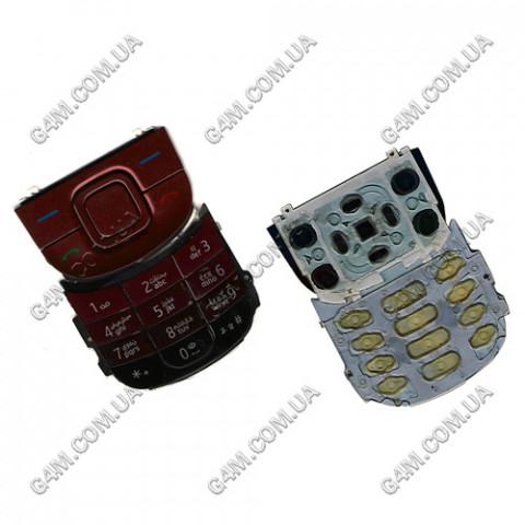 Клавиатура Nokia 3600 slide красная, High Copy