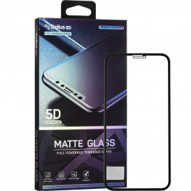 Защитное стекло Gelius Pro Matte Glass для iPhone XS Max (черное 5D стекло)