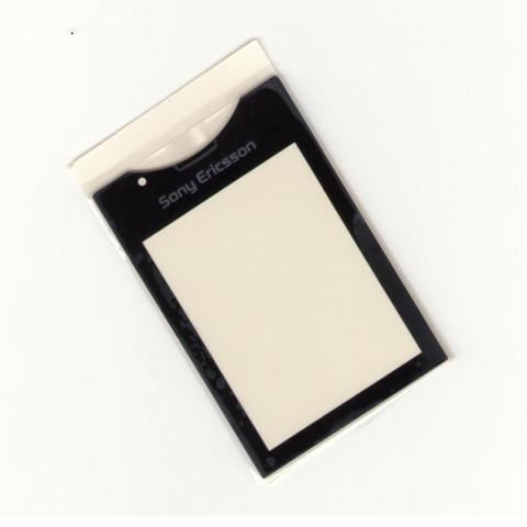 Стекло на корпус Sony Ericsson J10i elm черное с клейкой лентой