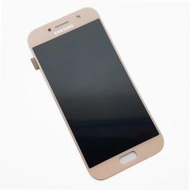 Дисплей Samsung A520F Galaxy A5 (2017) с тачскрином, розовый, снятый с телефона