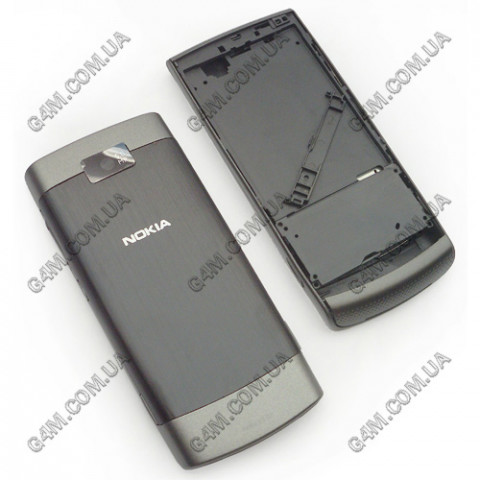 Корпус Nokia X3-02 Touch and Type серый с средней частью (High Copy)
