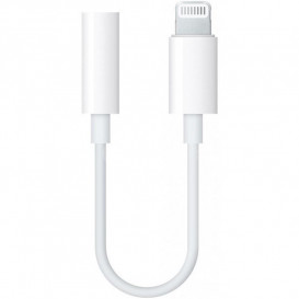 Адаптер Apple Lightning -> 3,5mm белый (Only Music)