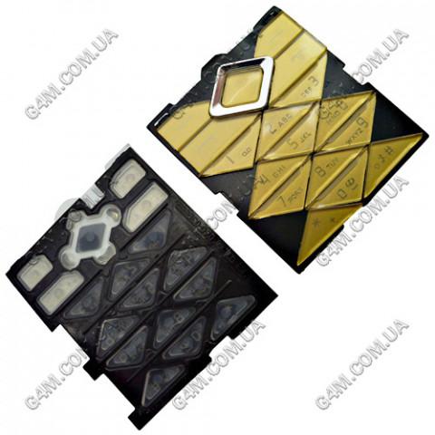 Клавиатура Nokia 7900 Prism золотая, русская, High Copy