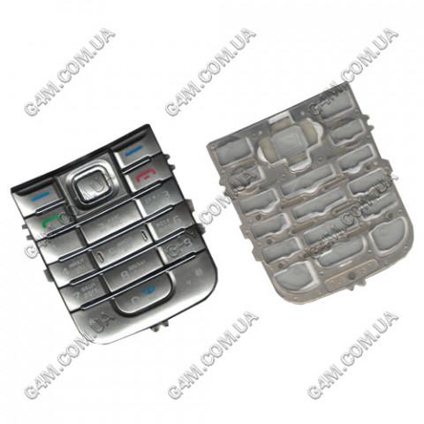 Клавиатура Nokia 6233 серебристая, русская (High Copy)