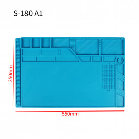 Силиконовый термостойкий коврик для пайки S-180 A1 (55см на 35см)