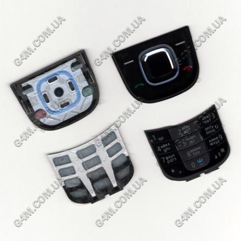 Клавиатура Nokia 2680 slide черная, русская, High Copy