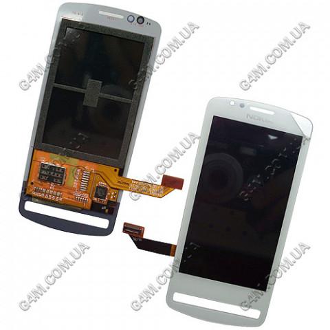 Дисплей Nokia 700 с тачскрином, белый (Оригинал)