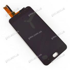 Дисплей Meizu M2 Note, Meilan Note 2 с тачскрином, черный