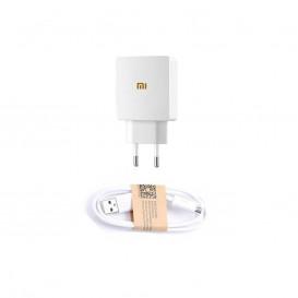 Сетевое зарядное устройство Xiaomi + кабель MicroUSB (CH-P002) 1A (белого цвета)