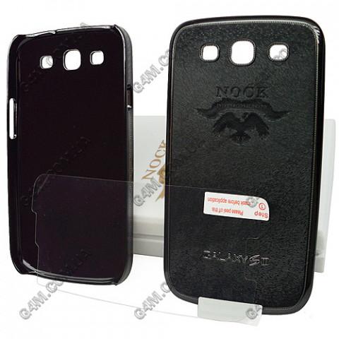 Накладка пластиковая NOCK для Samsung i9300 Galaxy S3 (черная с защитной пленкой в комплекте)