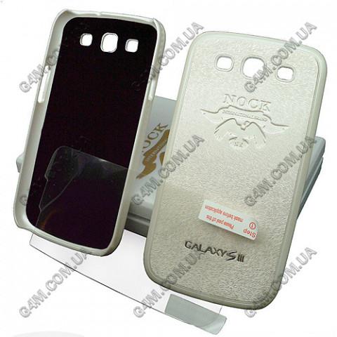 Накладка пластиковая NOCK для Samsung i9300 Galaxy S3 (белая с защитной пленкой в комплекте)