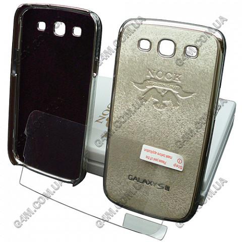 Накладка пластиковая NOCK для Samsung i9300 Galaxy S3 (серебристая с защитной пленкой в комплекте)
