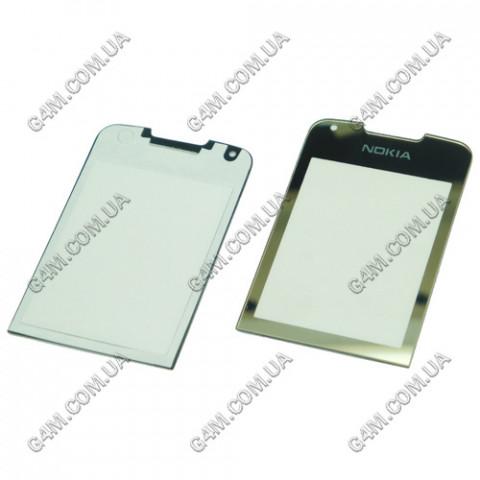 Стекло на корпус Nokia 8800 Arte золотое, с клейкой лентой