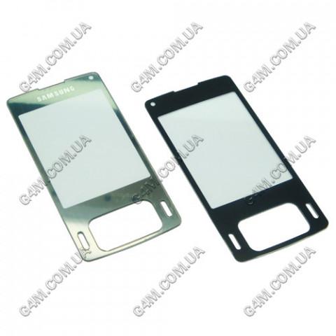 Стекло на корпус Samsung G800 серебристое