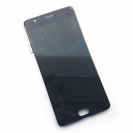 Дисплей OnePlus 3, 3T с тачскрином и рамкой, черный