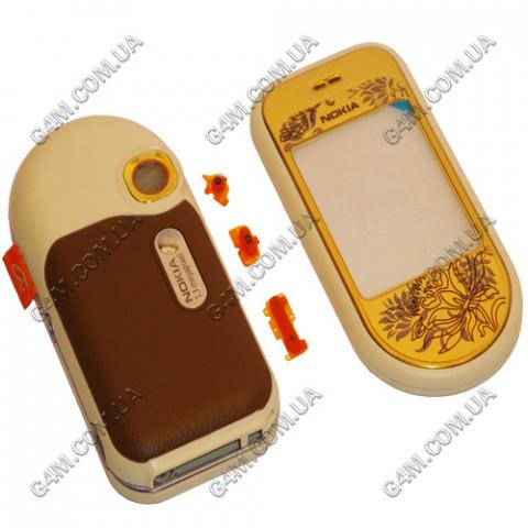 Корпус Nokia 7370 золотой (High Copy)