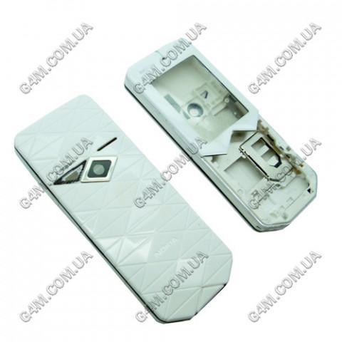 Корпус Nokia 7500 Prism белый с чёрным кантом, High Copy