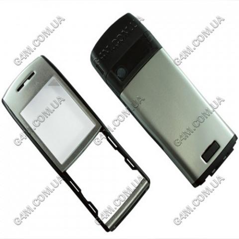 Корпус Nokia E50 серебристый (High Copy)