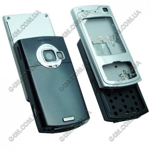 Корпус Nokia N80 серебристый (полный комплект), High Copy